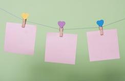 Folhas de papel na linha Imagem de Stock Royalty Free