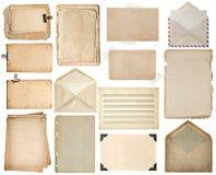 Folhas de papel usadas Páginas do livro velho, cartões, notas da música Fotografia de Stock