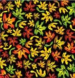 Folhas de plátano do outono Ilustração Stock