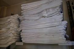 Folhas de reposição do hotel fotografia de stock