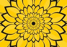 Amarele a ilustração das folhas da flor Fotografia de Stock Royalty Free