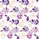 Folhas decorativas da queda da cor roxa e violeta Foto de Stock Royalty Free