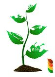 Folhas do ícone Fotos de Stock