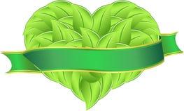 Folhas do coração ilustração stock
