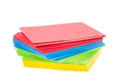 Folhas do papel colorido imagem de stock