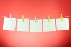 Folhas do papel em branco Foto de Stock Royalty Free