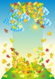 Folhas do sumário do outono ilustração royalty free