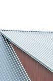 Folhas do telhado da construção industrial, teste padrão de aço cinzento do telhado, isolado foto de stock