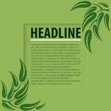 Folhas do verde em um fundo verde ilustração do vetor