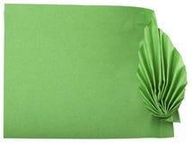 Folhas do verde feitas do papel Fotografia de Stock