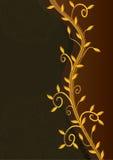 Folhas douradas Card_eps real Imagem de Stock Royalty Free