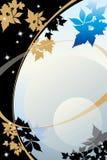 Folhas douradas da noite Fotografia de Stock Royalty Free