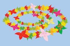 Folhas e flores de outono ilustração royalty free