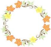 Folhas e grinalda das flores ilustração royalty free
