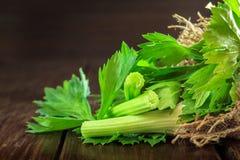Folhas e varas do aipo Imagens de Stock