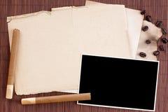 Folhas esfarrapadas velhas Imagem de Stock Royalty Free