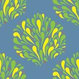 Folhas estilizadas teste padrão ilustração stock