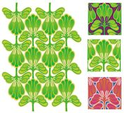 Folhas estilizados ou penas do papel de parede Fotografia de Stock Royalty Free