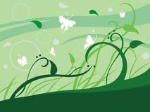 Folhas florais ilustração royalty free