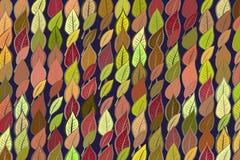 Folhas geométricas abstratas que tiram o teste padrão, colorido & artístico para o projeto gráfico Natureza, digital, contexto &  ilustração royalty free