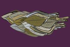 Folhas geométricas modernas que tiram o sumário do teste padrão do fundo Gráfico, desarrumado, detalhes & molde ilustração stock