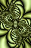 Folhas metálicas do fractal Fotografia de Stock Royalty Free