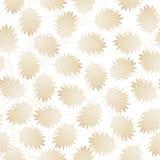 Folhas pointy de Brown em um teste padrão sem emenda Imagem de Stock