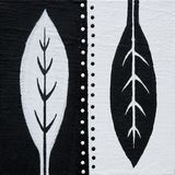 Folhas preto e branco Fotografia de Stock