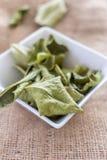 Folhas secadas do cal do Kaffir Fotografia de Stock