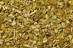 Folhas secadas do chá do companheiro Fotos de Stock Royalty Free
