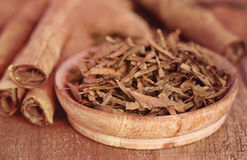Folhas secas do tabaco Imagem de Stock Royalty Free