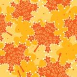 Folhas sem emenda do amarelo do teste padrão. Fotografia de Stock