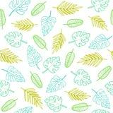 Folhas simples do esboço Imagens de Stock