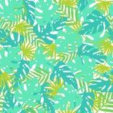 Folhas tropicais brilhantes Fotos de Stock Royalty Free