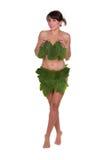 Folhas vestindo da mulher Foto de Stock