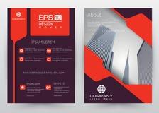 Folheto ajustado do molde do vetor do projeto da tampa, informe anual, compartimento, cartaz, apresentação incorporada, portfólio Fotografia de Stock