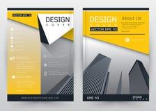 Folheto ajustado do molde do vetor do projeto da tampa, informe anual, compartimento, cartaz, apresentação incorporada, portfólio Imagem de Stock