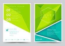 Folheto ajustado do molde do vetor do projeto da tampa, informe anual, compartimento, cartaz, apresentação incorporada, portfólio Foto de Stock