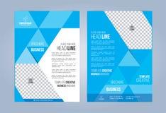 Folheto azul e branco do negócio Foto de Stock