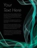 Folheto, cartaz ou inseto com fundo e luz pretos - verde Fotos de Stock Royalty Free