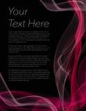 Folheto, cartaz ou inseto com fundo e vermelho pretos coloridos Foto de Stock
