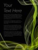 Folheto, cartaz ou inseto com fundo preto e cor amarela Imagens de Stock