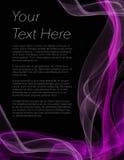 Folheto, cartaz ou inseto com fundo preto e cor roxa Fotografia de Stock Royalty Free