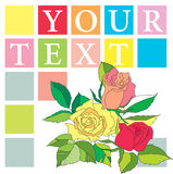 Folheto com flores ilustração stock