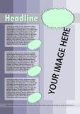 Folheto cor-de-rosa com detalhes verdes ilustração royalty free