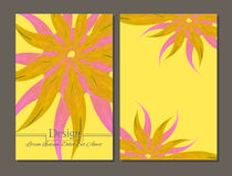 Folheto da beleza cores amarelas e cor-de-rosa Foto de Stock