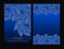 Folheto da beleza Cores azuis e cinzentas Fotografia de Stock