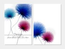 Folheto da beleza Cores cor-de-rosa e brancas azuis Foto de Stock