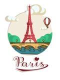 Folheto de Paris Fotografia de Stock