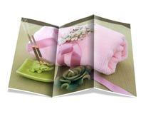 Folheto de termas naturais imagens de stock royalty free